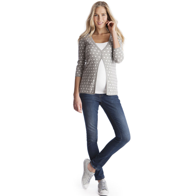 Reversible Dots Maternity Sweater - Seven Women Maternity