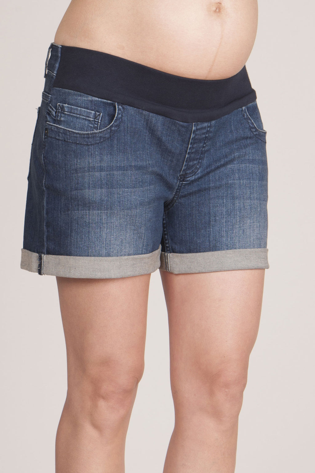 Denim Maternity Shorts - Seven Women Maternity