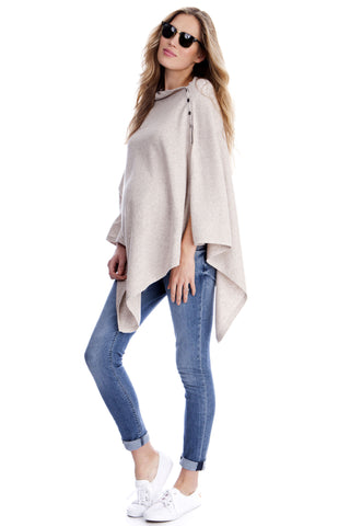 Seraphine Rudy Two-Tone Luxury Maternity & Nursing Shawl Wrap