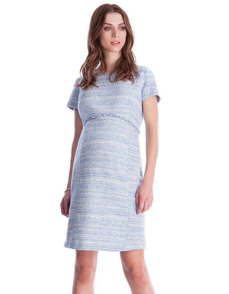 Seraphine Sienna a-line Tweed Maternity Dress