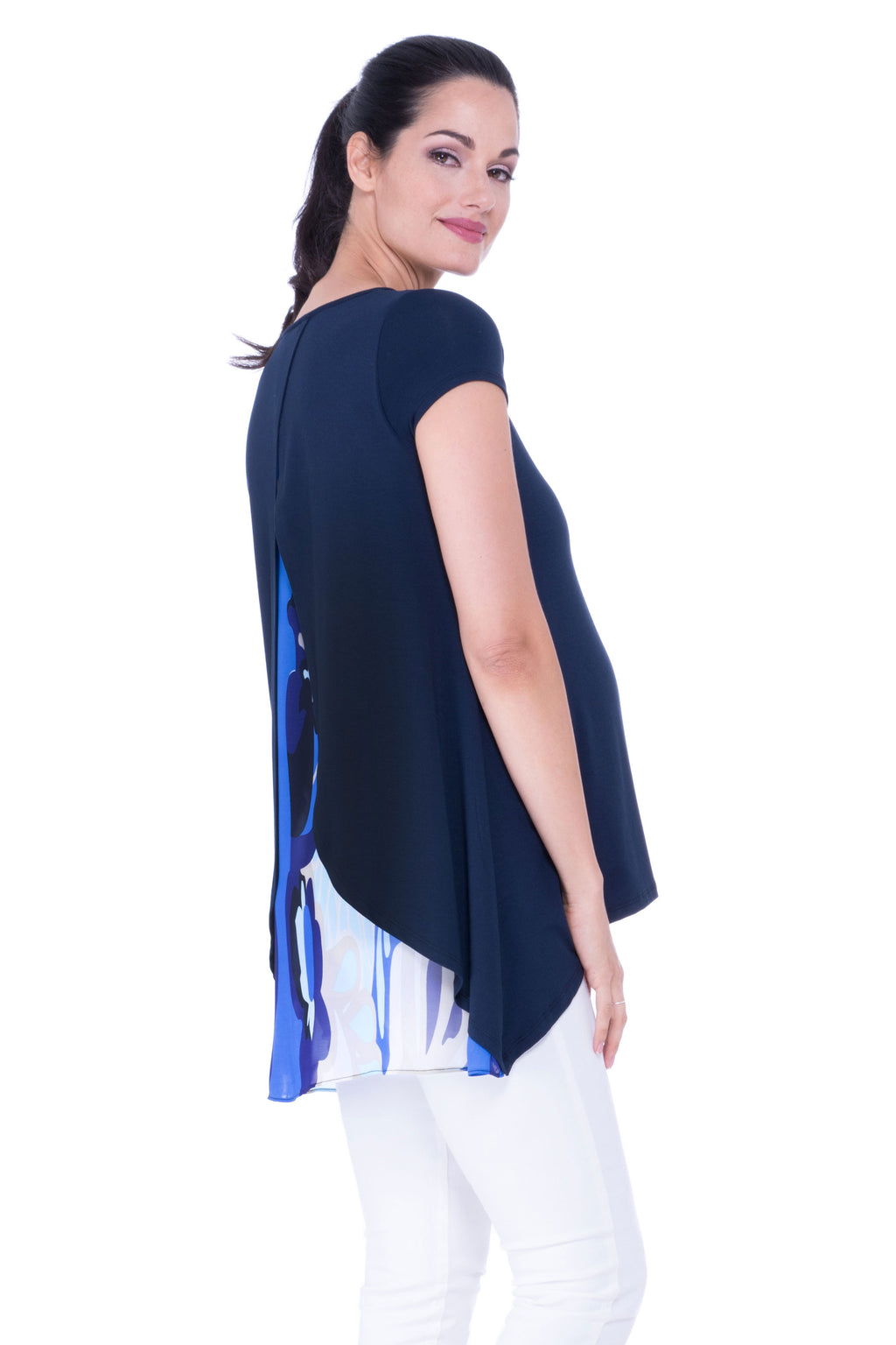 Madison Silk Back Maternity Tunic