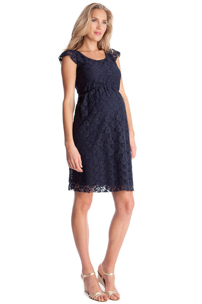 Seraphine Sloane Cap Sleeve Lace Maternity Dress