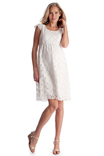 Seraphine Sloan White Cap Sleeve Lace Maternity Dress