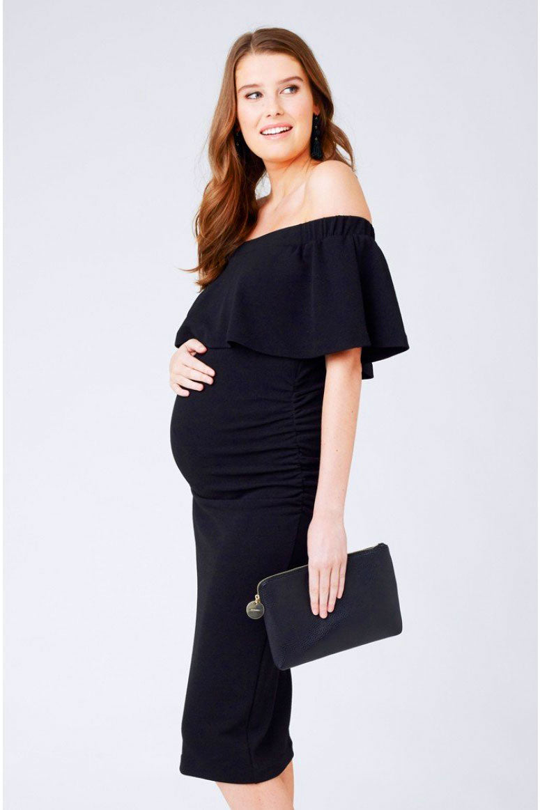 Ripe Soiree off Shoulder Dress in Cavair - Seven Women Maternity