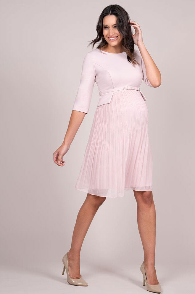Seraphine Luxe Sophia Maternity Dress in Blush - Seven Women Maternity