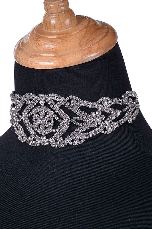 Luxury Rhinestone Choker Crystal Maxi Statement Necklace - Seven Women Maternity