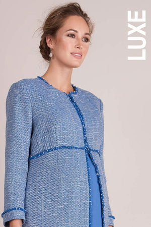 Seraphine Star Boucle Luxe Maternity Spring Coat - Seven Women Maternity