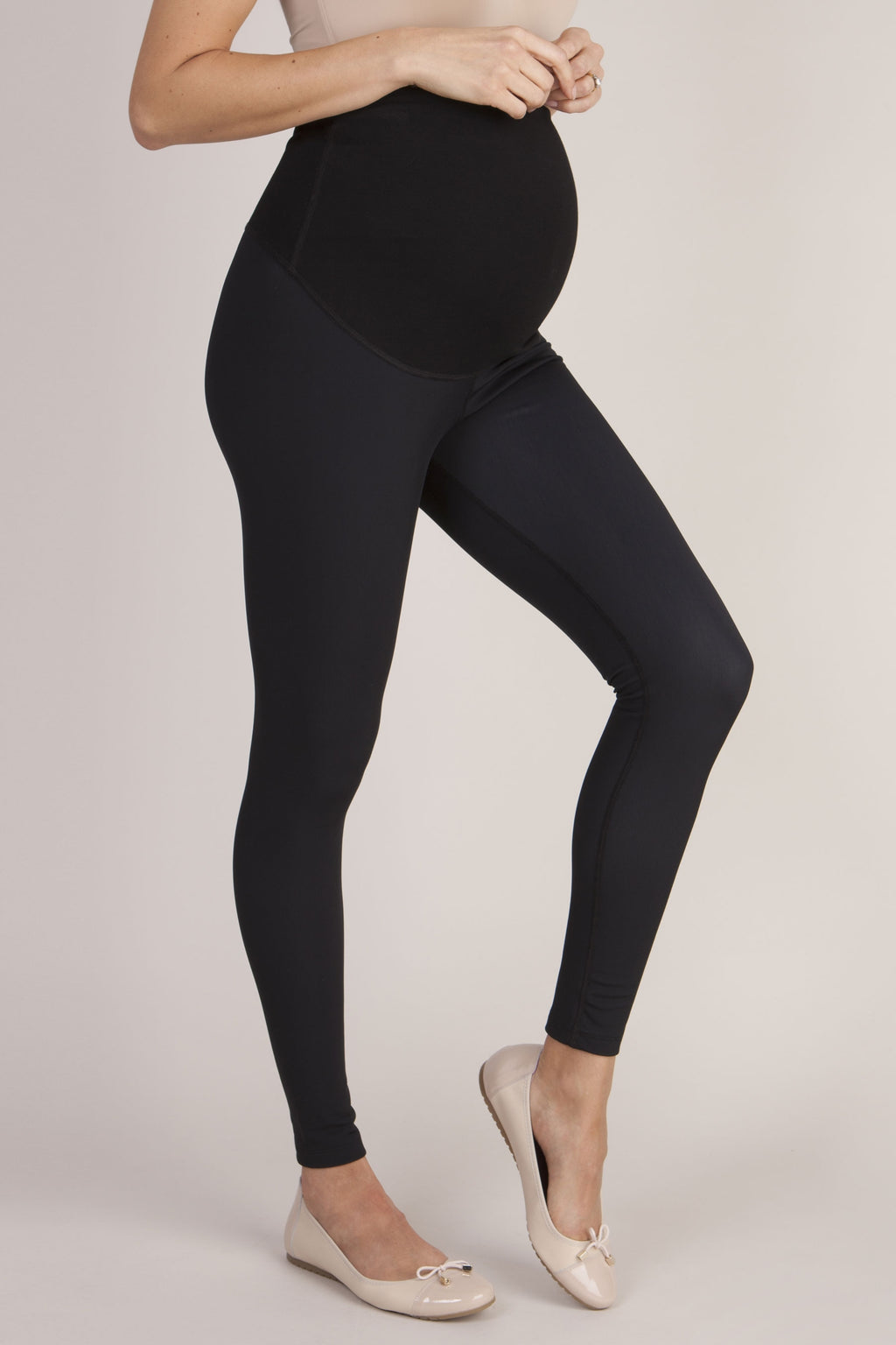 Seraphine Susannah Over Bump Thermal Maternity Leggings - Seven Women Maternity