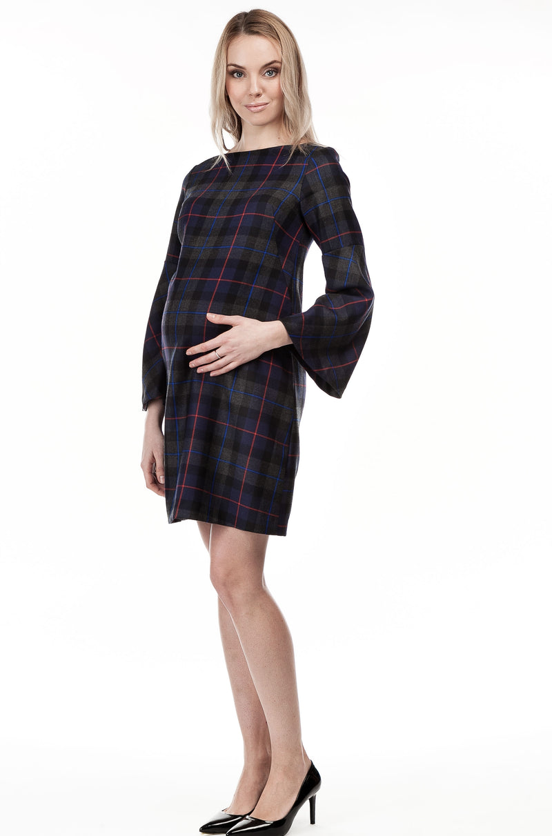 Pietro Brunelli Tartan Maternity Shift Dress - Seven Women Maternity