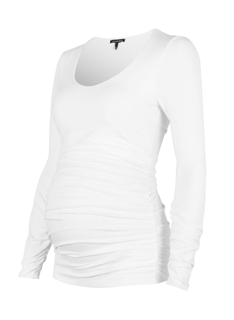 Ruched Scoop Maternity Top Isabella Oliver - Seven Women Maternity