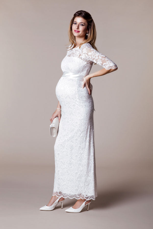 Amelia Lace Bridal Wedding Maternity Gown - Seven Women Maternity