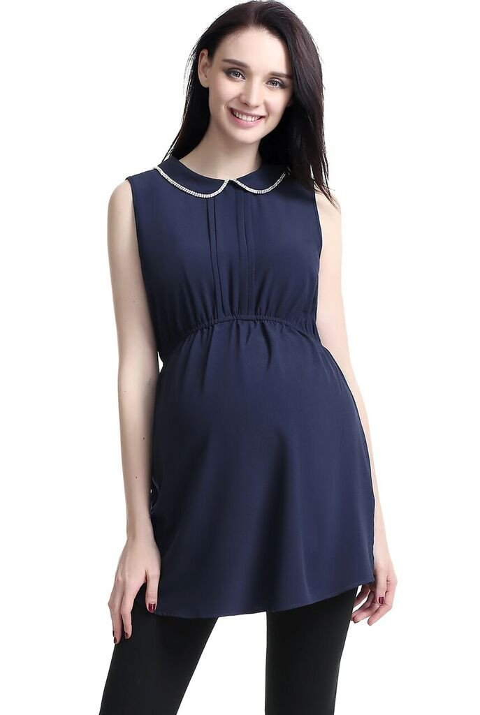 Kimi + Kai Callie Embellished Collar Maternity Top - Seven Women Maternity