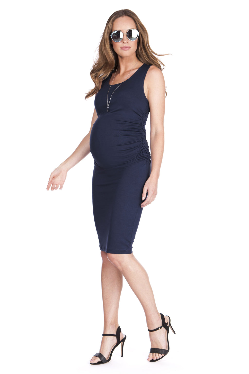 Seraphine Valentina Maternity Dress in Navy