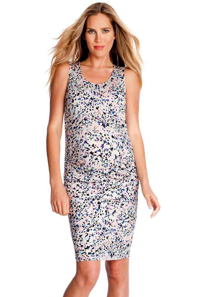 Seraphine Valentine Maternity  Print Dress - Seven Women Maternity