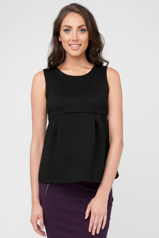 Seraphine Apple Maternity Tank Top in Black