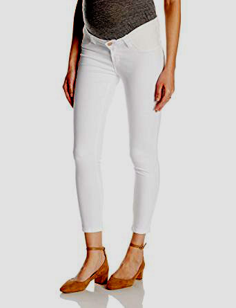 Ripe White Maternity Ankle Jeans / Jeggings - Seven Women Maternity