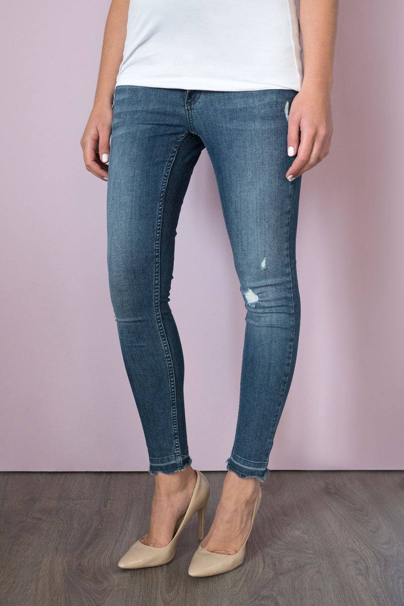 Seraphine Wilder Distressed Over Bump Skinny Maternity Jeans