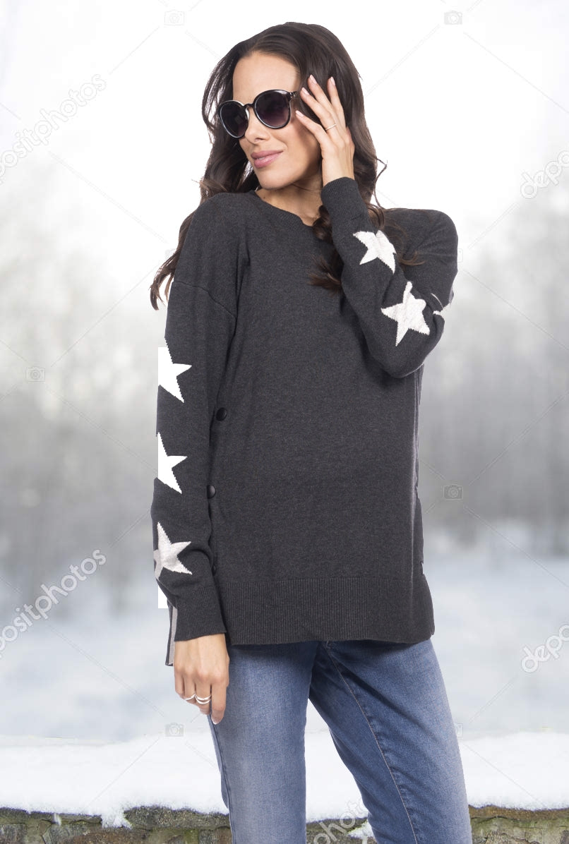 Seraphine Antonella Star Maternity Nursing Sweater - Seven Women Maternity