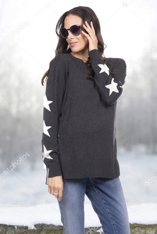 Reversible Dots Maternity Sweater