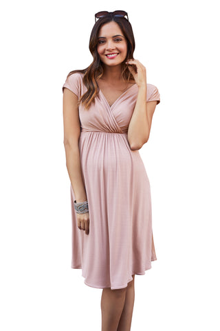 Delfina   Tiered Maternity Dress