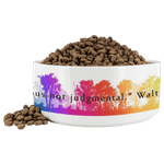 "Walt Whitman | Pet Bowl ""Be Curious not judgmental."" - Walt and Pete"