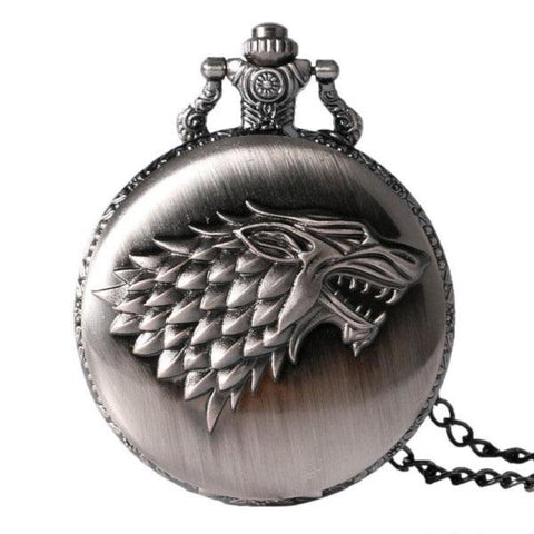 Montre à Gousset Stark Argent | Game of Thrones