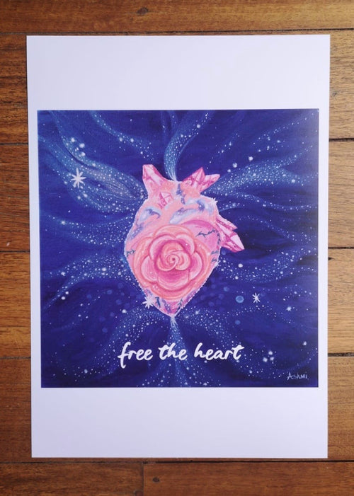 Free the Heart ~ Word Print