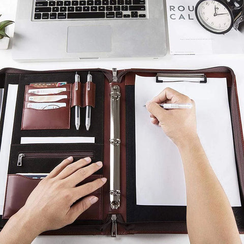 Porte-documents padfolio classeur bloc-notes