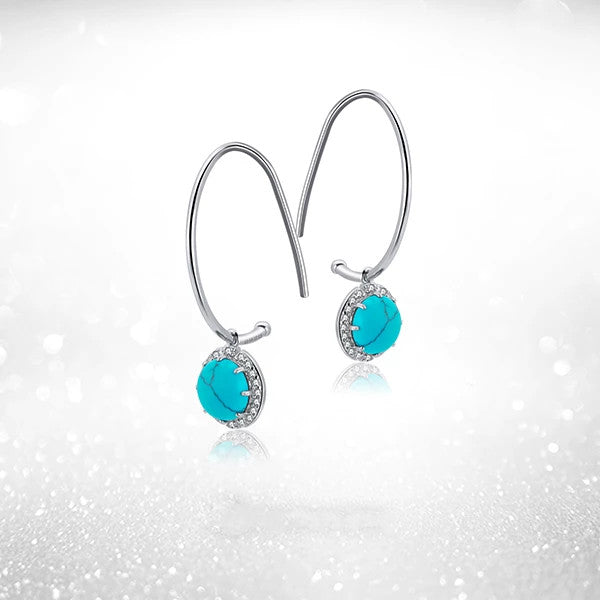SILVER SOLSTICE TURQUOISE EARRINGS