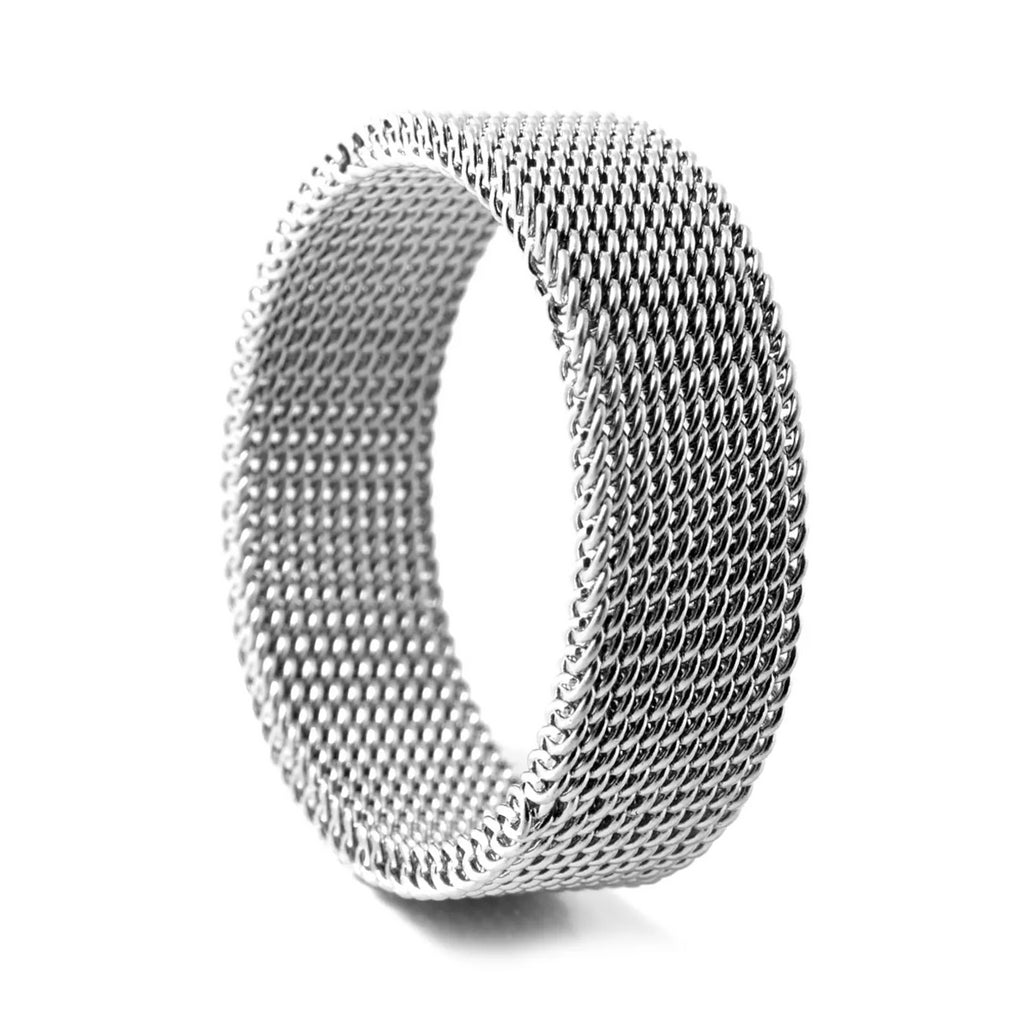 SILVER FLEXIBLE STEEL RING