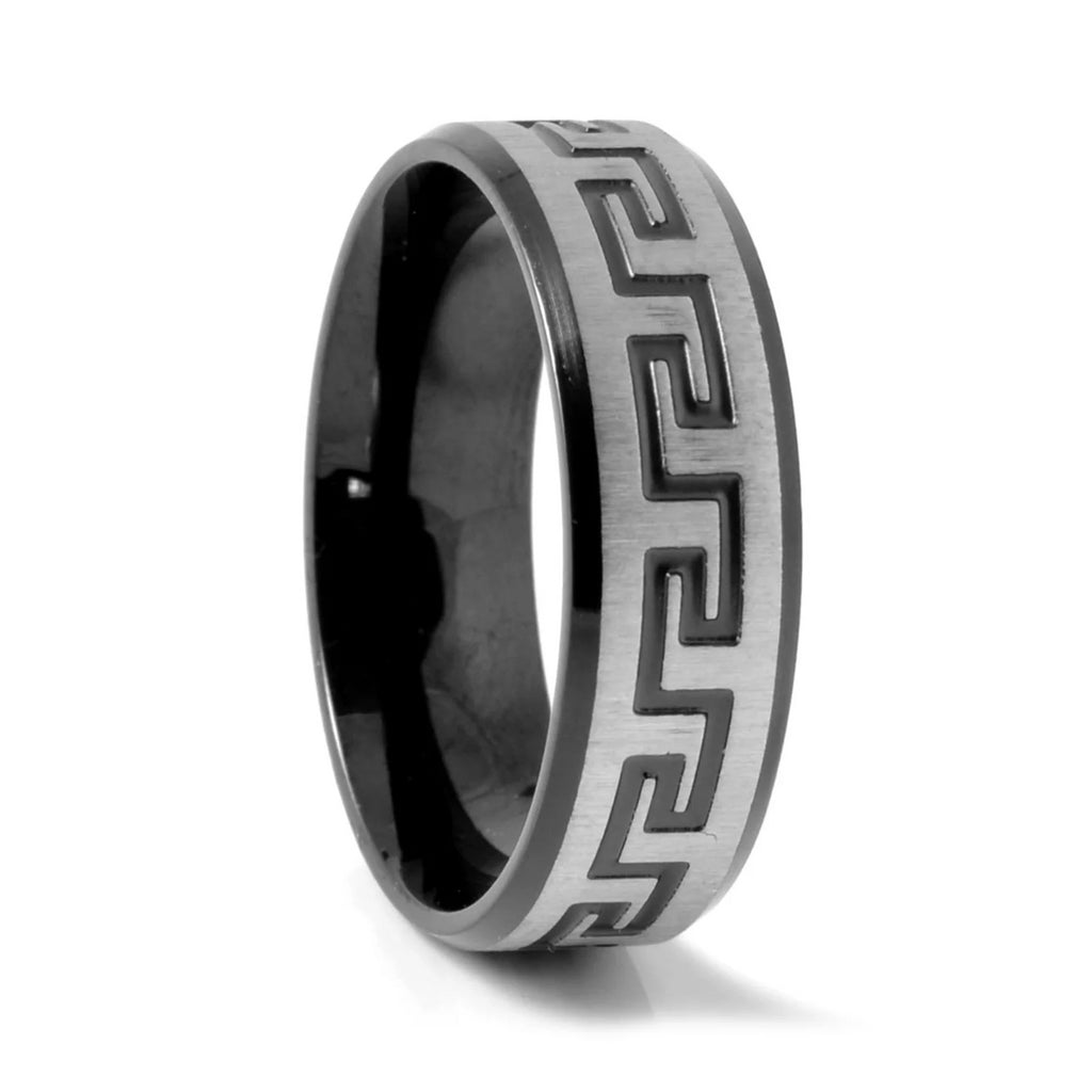 BLACK SL DESIGN STEEL RING