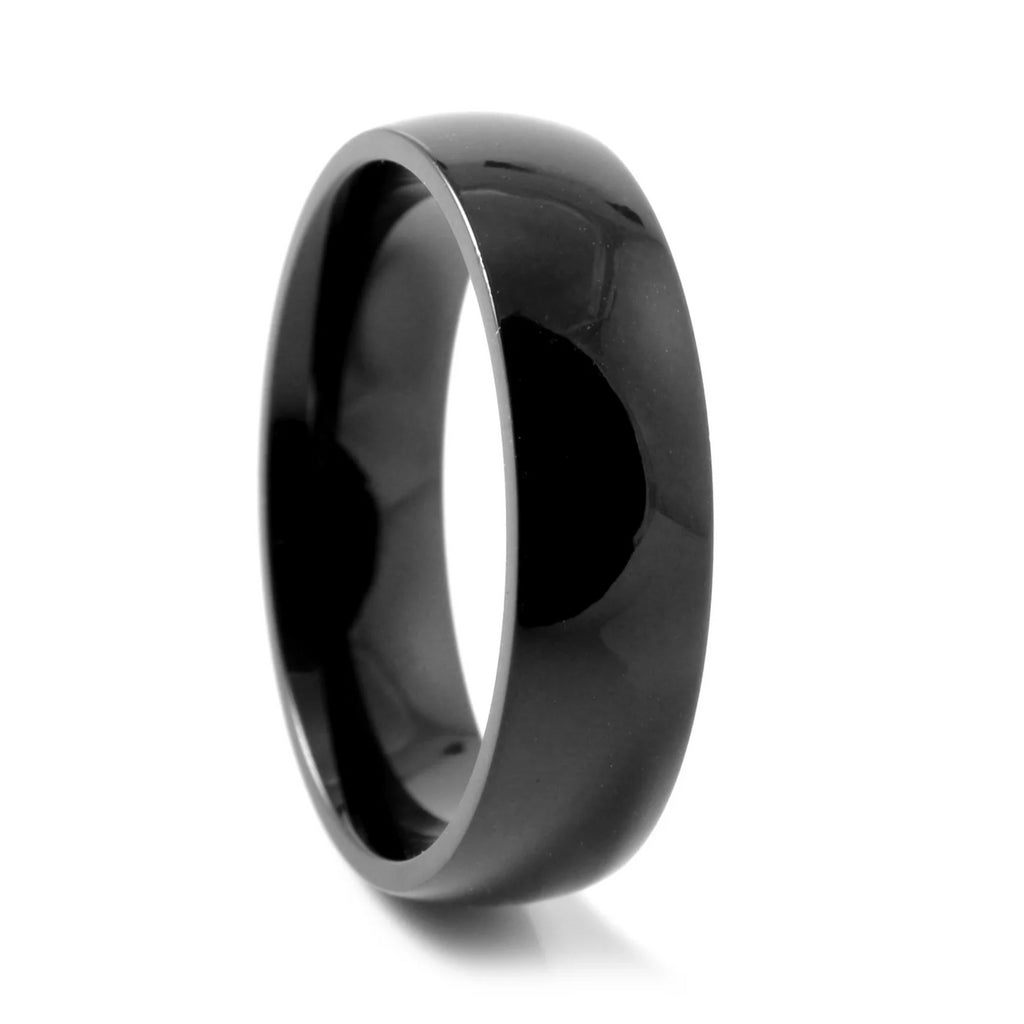 TRADITIONAL BLACK TITANIUM RING