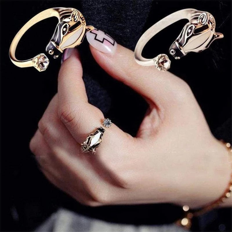 Cute Horse Adjustable Ring