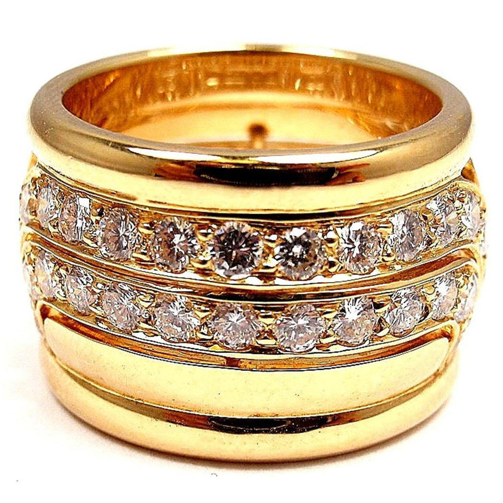 18K Gold Plated Zirconia Inlaid Engagement Ring