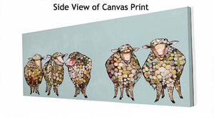 5 Woolly Sheep - Canvas Giclée Print