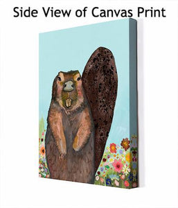 Beaver With Gold Teeth - Canvas Giclée Print