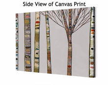 Load image into Gallery viewer, Birch Tree Branches on Light Grey - Canvas Giclée Print
