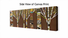 Load image into Gallery viewer, Birch Tree Forest in Chocolate Brown - Canvas Giclée Print