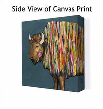Load image into Gallery viewer, Bison in Blue - Canvas Giclée Print