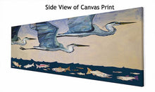 Load image into Gallery viewer, Blue Herons Fishing Trip - Canvas Giclée Print
