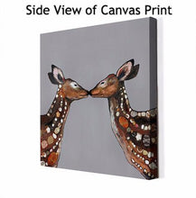 Load image into Gallery viewer, Deer Duo in Deep Gray - Canvas Giclée Print