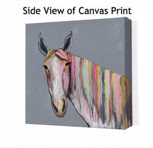 Load image into Gallery viewer, Horse On Gray - Canvas Giclée Print