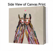 Load image into Gallery viewer, Llama Love Neutral - Canvas Giclée Print
