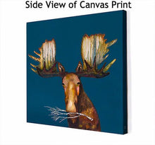 Load image into Gallery viewer, Moose With Branch - Canvas Giclée Print