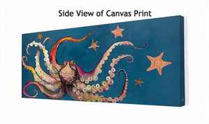 Octopus and Starfish - Canvas Giclée Print