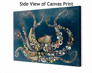 Octopus in the Deep Blue Sea - Canvas Giclée Print
