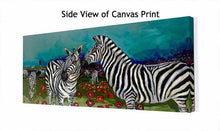 Load image into Gallery viewer, Poppy Field of Zebras - Canvas Giclée Print