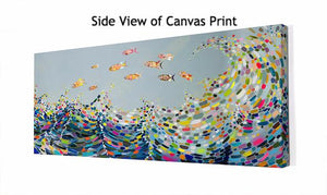 Vivid Waves - Canvas Giclée Print