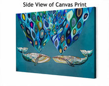 Load image into Gallery viewer, Whales Power Spray - Canvas Giclée Print