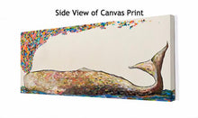 Load image into Gallery viewer, Whale Spray in Antique White - Canvas Giclée Print